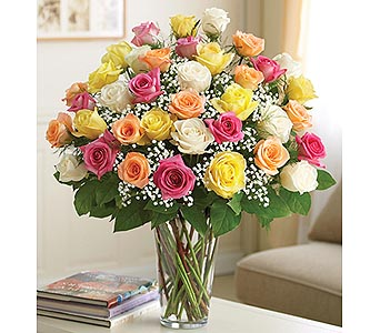 Long Stem Assorted Roses 36 Stems in Palm Desert CA, Milan's Flowers & Gifts