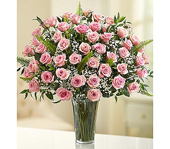 Long Stem Pink Roses 48 Stems in Palm Desert CA, Milan's Flowers & Gifts