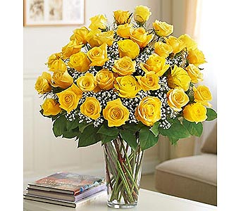 Long Stem Yellow Roses 36 Stems in Palm Desert CA, Milan's Flowers & Gifts