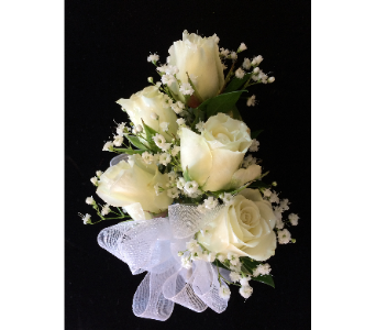 Romantic Roses Corsage in white in Gaithersburg MD, Mason's Flowers