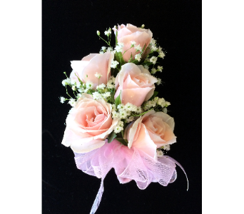 Pretty in Pink Rose Corsage in Gaithersburg MD, Mason's Flowers