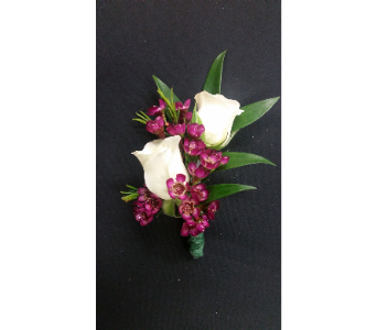 Double Tea Rose Boutonniere in Rockledge PA, Blake Florists