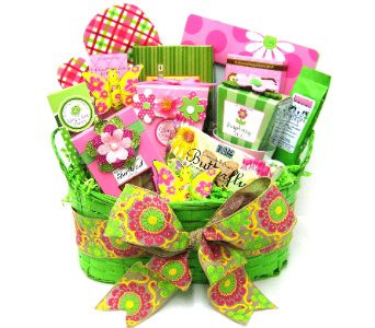 GF161 Spring Serenade Gift & Gourmet Basket in Oklahoma City OK, Array of Flowers & Gifts