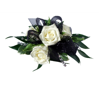 Black Dazzle Wrist Corsage in Detroit and St. Clair Shores MI, Conner Park Florist