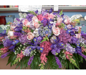 Shades of Lavender Casket Spray in Port Chester NY, Port Chester Florist