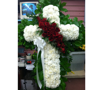 Elegant Standing Cross in Port Chester NY, Port Chester Florist