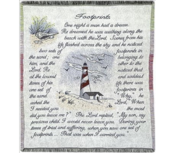 Footprints Tapestry Throw in Piqua OH, Genell's Flowers