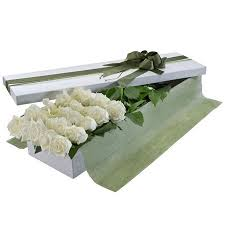 Dozen White Roses Boxed in Nashville TN, Emma's Flowers & Gifts, Inc.