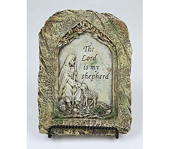 The Lord is My Shepherd Plaque in Indianapolis IN, Gillespie Florists