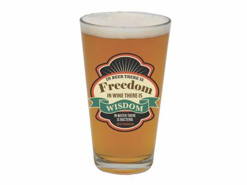 Beer There is Freedom Pint Glass in Clovis CA, A Secret Garden