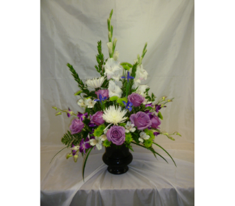 Coolwater and White Sidetable in Belleville ON, Barber's Flowers Ltd