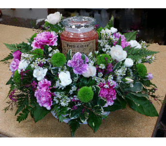 Candle Arrangement in St. Marys PA, Goetz Fashion In Flowers