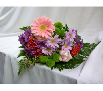 Popping Pinks Bouquet in Belleville ON, Barber's Flowers Ltd