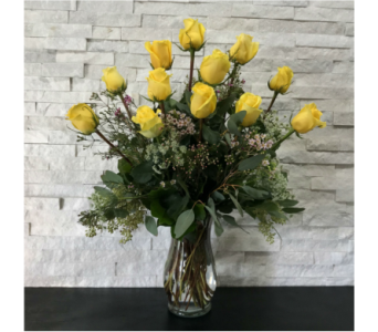 Yellow Executive Roses in Ft. Collins CO, Palmer Flowers