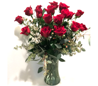 18 Rose Arrangement in Ft. Collins CO, Palmer Flowers