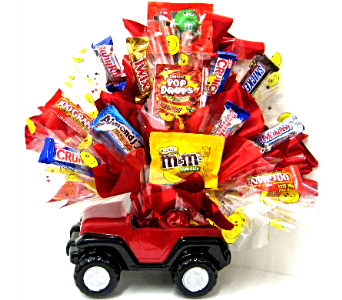 CB308 The Sweet Jeep Candy Bouquet in Oklahoma City OK, Array of Flowers & Gifts