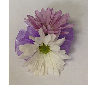 Daisy child's wrist corsage in Wyoming MI, Wyoming Stuyvesant Floral