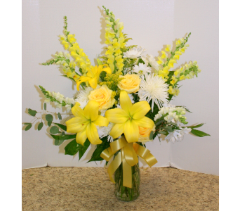 Yellow Celebrations in Asheville NC, Kaylynne's Briar Patch Florist, LLC