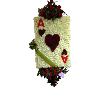 Ace of Hearts Sympathy Tribute in Waterbury CT, The Orchid Florist