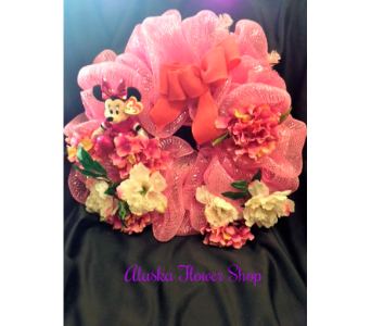 BABY WREATH FOR GIRL in Anchorage AK, Alaska Flower Shop