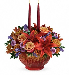 Teleflora's Autumn Ablaze Centerpiece in Skowhegan ME, Boynton's Greenhouses, Inc.
