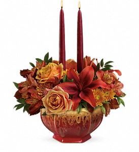 Teleflora's Bounty Of Beauty Centerpiece in Metropolis IL, Creations The Florist