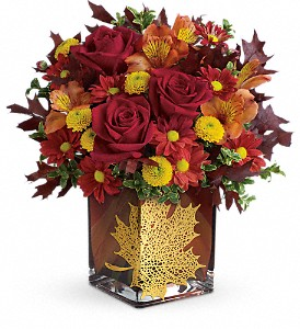 Teleflora's Maple Leaf Bouquet in Houston TX, Fancy Flowers