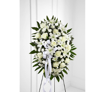 The FTD Exquisite Tribute Standing Spray in Fort Pierce FL, Giordano's Floral Creations