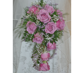 Lavender Roses Cascading bride's bouquet in Scarborough ON, Helen Blakey Flowers