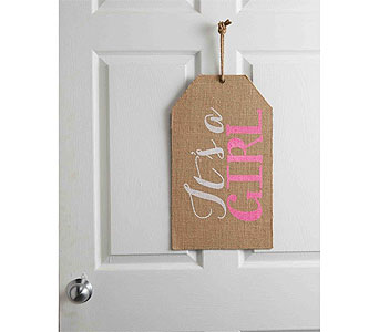 IT'S A GIRL DOOR TAG in Oklahoma City OK, Trochta's
