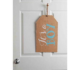 IT'S A BOY DOOR TAG in Oklahoma City OK, Trochta's