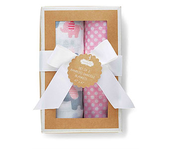 Layette Girl Swaddle Blanket Set in Oklahoma City OK, Trochta's
