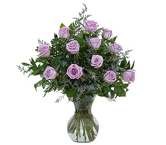Lovely Lavender Roses in Lone Tree IA, Fountain Of Flowers And Gifts, Iowa