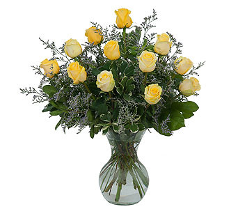 Yellow Rose Beauty in Moline IL, K'nees Florists