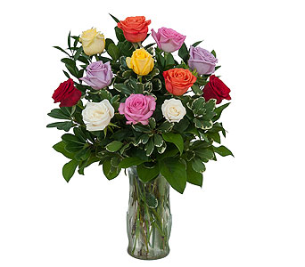 Dozen Roses - Mix it up! in Orland Park IL, Sherry's Flower Shoppe