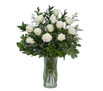 White Rose Elegance in Mount Morris MI, June's Floral Company & Fruit Bouquets