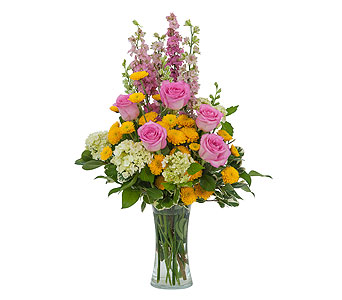 Pink and Much More in Mount Morris MI, June's Floral Company & Fruit Bouquets