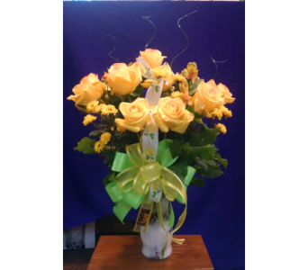 Dozen Rose Arrangement in Bridge City TX, Wayside Florist