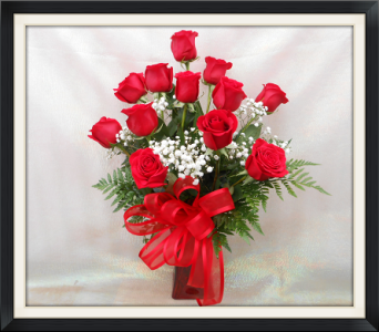 Always In Love-Red Vase Dozen in Tyler TX, The Flower Box