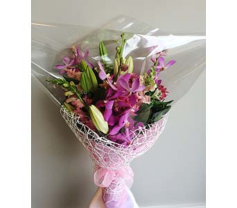 Magenta CUT BOUQUET   in Victoria BC, Fine Floral Designs