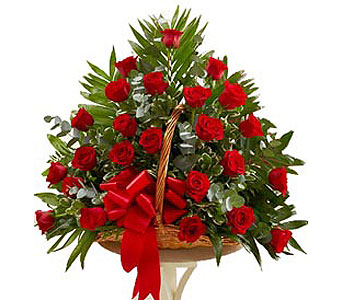 Lovely Roses Fireside Basket