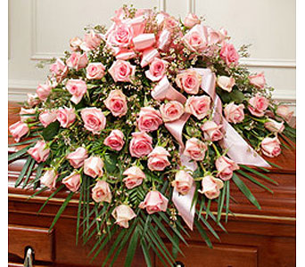 Cherished Memories Rose 1/2 Casket Pink