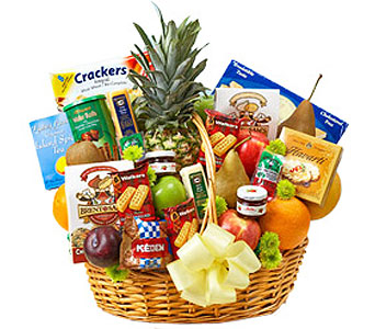 Deluxe Fruit and Gourmet Basket (L)