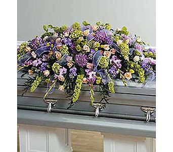 Multicolored Full Cover Casket