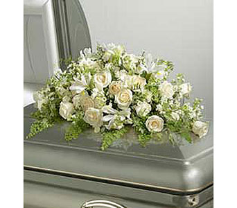 All-White Casket Spray