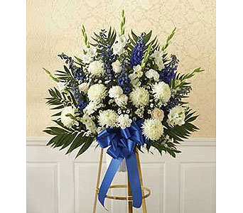 Blue & White Sympathy Basket