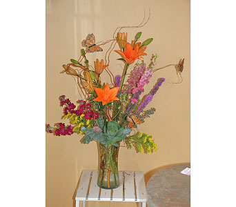 Sue's Butterfly Arrangement in Hales Corners WI, Barb's Green House Florist