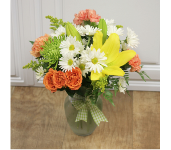 Gingham & Sunshine Bouquet in Fargo ND, Dalbol Flowers & Gifts, Inc.