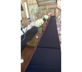 8' Board with 5 Votives in Loudonville OH, Four Seasons Flowers & Gifts