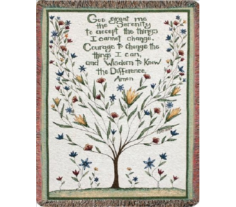 Serenity Prayer Tapestry Throw in Piqua OH, Genell's Flowers